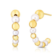 JULIETTE - The Pearl + Bead Hoops