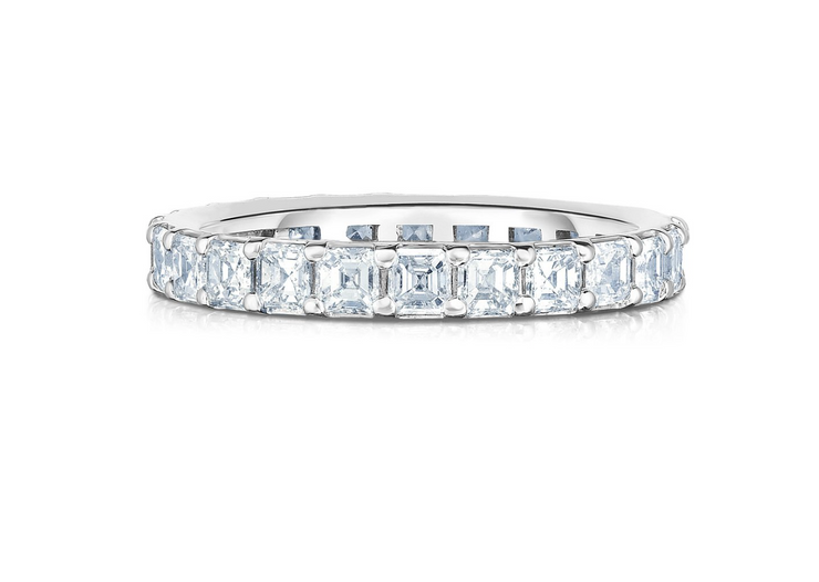 The Baby Asscher Cut Eternity Band