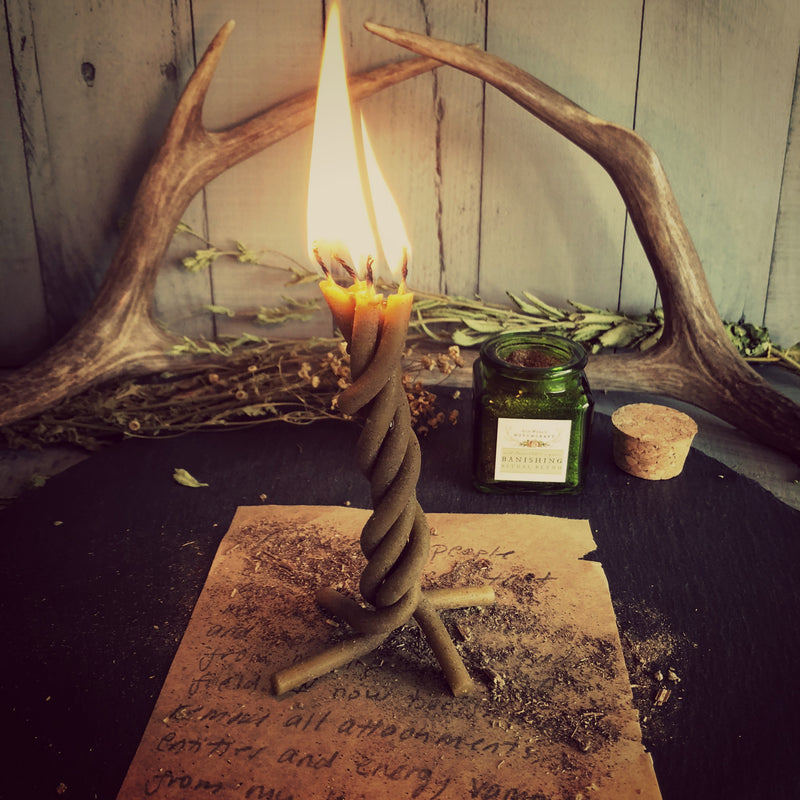 Pre-Braided Old World Ritual Candle Braid - Old World Witchcraft