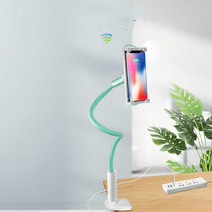 Flexible Phone Holder With a Wireless Charger