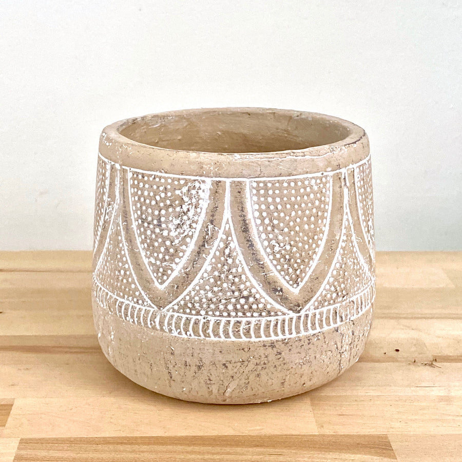 Embossed Terracotta Pot