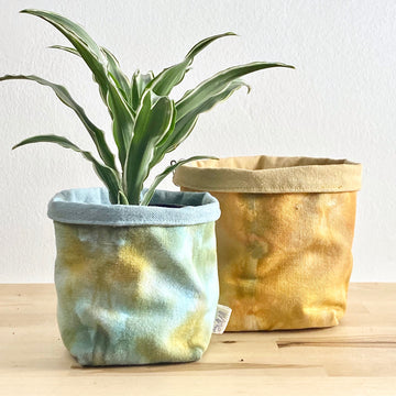 Shibori Canvas Planter