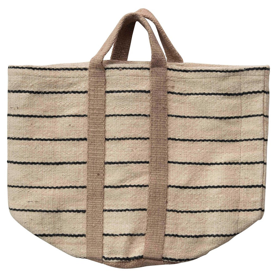 Natural Jute Striped Tote