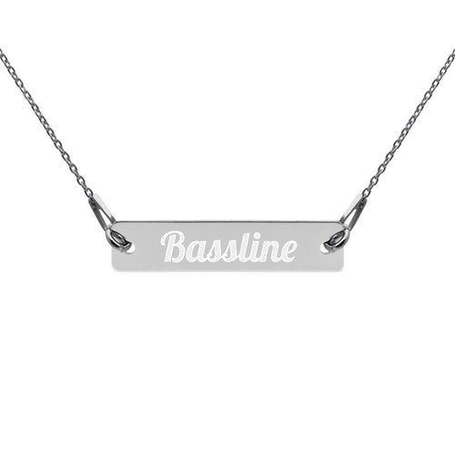 Engraved Silver 'Baseline' Bar Chain Necklace