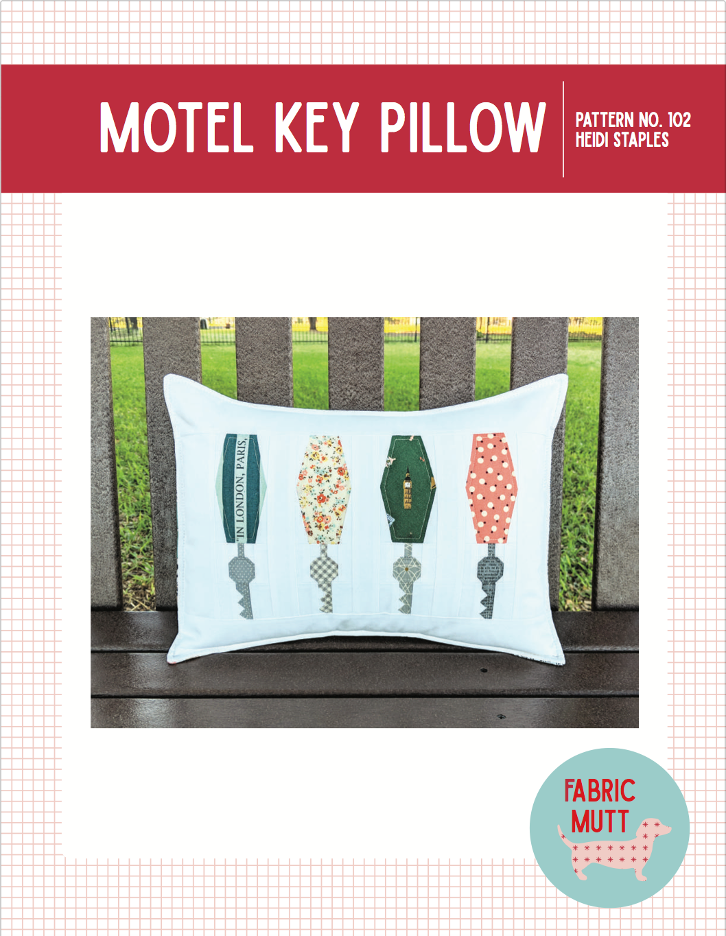 Motel Key Pillow (PDF Pattern)
