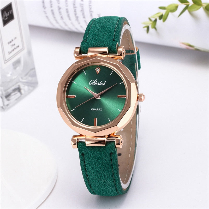 Fashion Women Leather Casual Watch Luxury Analog Quartz Crystal Wristwatch 2020