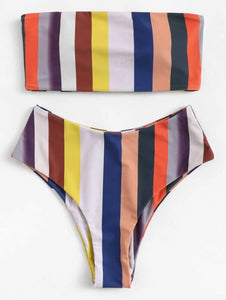 Striped Bandeau Set