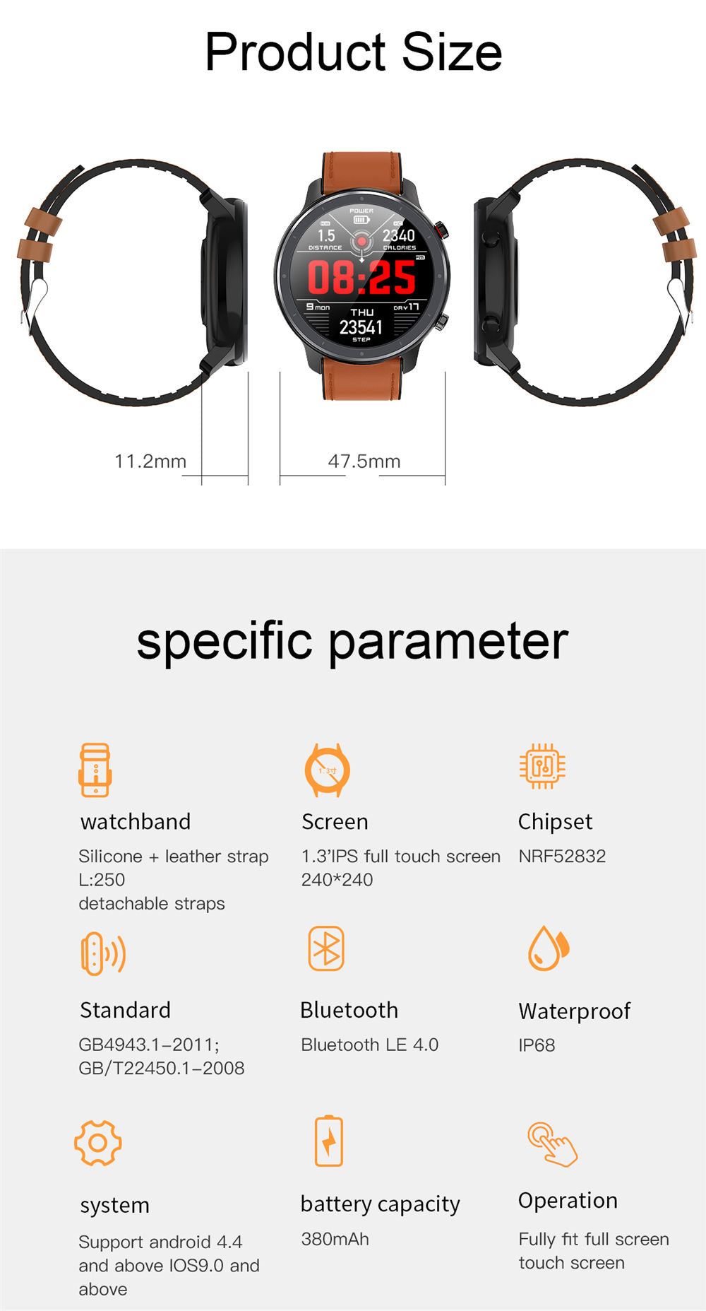 L11 Smart Watch-detailed information16