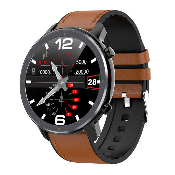 L11 Smart Watch black leather