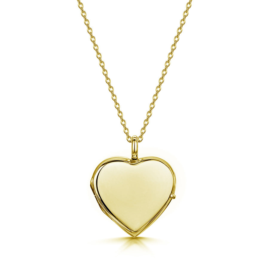 Heart Personalised Gold Locket