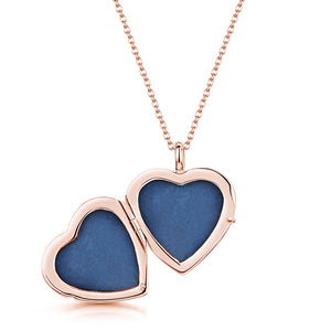Scroll Heart Rose Gold Locket