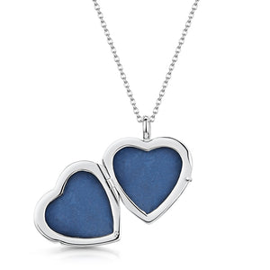 Full Scroll Heart Engraved Locket – Silver