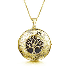 Load image into Gallery viewer, Large Tree of Life Personalised Locket – Gold