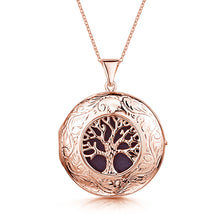 Load image into Gallery viewer, Large Tree of Life Personalised Locket – Rose Gold