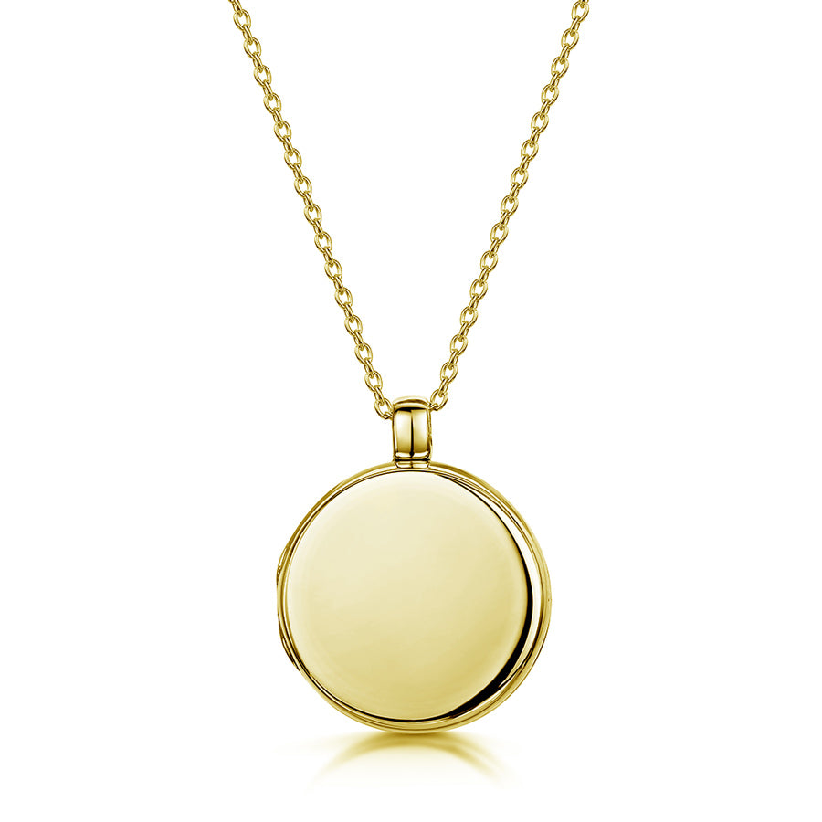 Round Personalised Locket – Gold