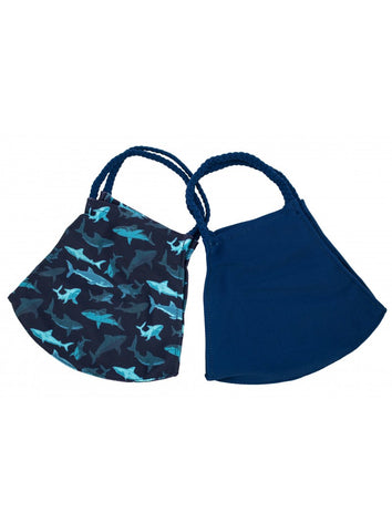 POM MASKS 2 PACK SHARKS/NAVY