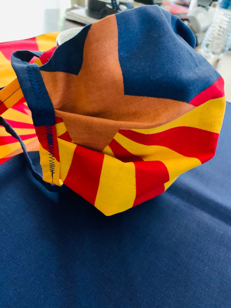 JM ARIZONA FLAG TIE MASK