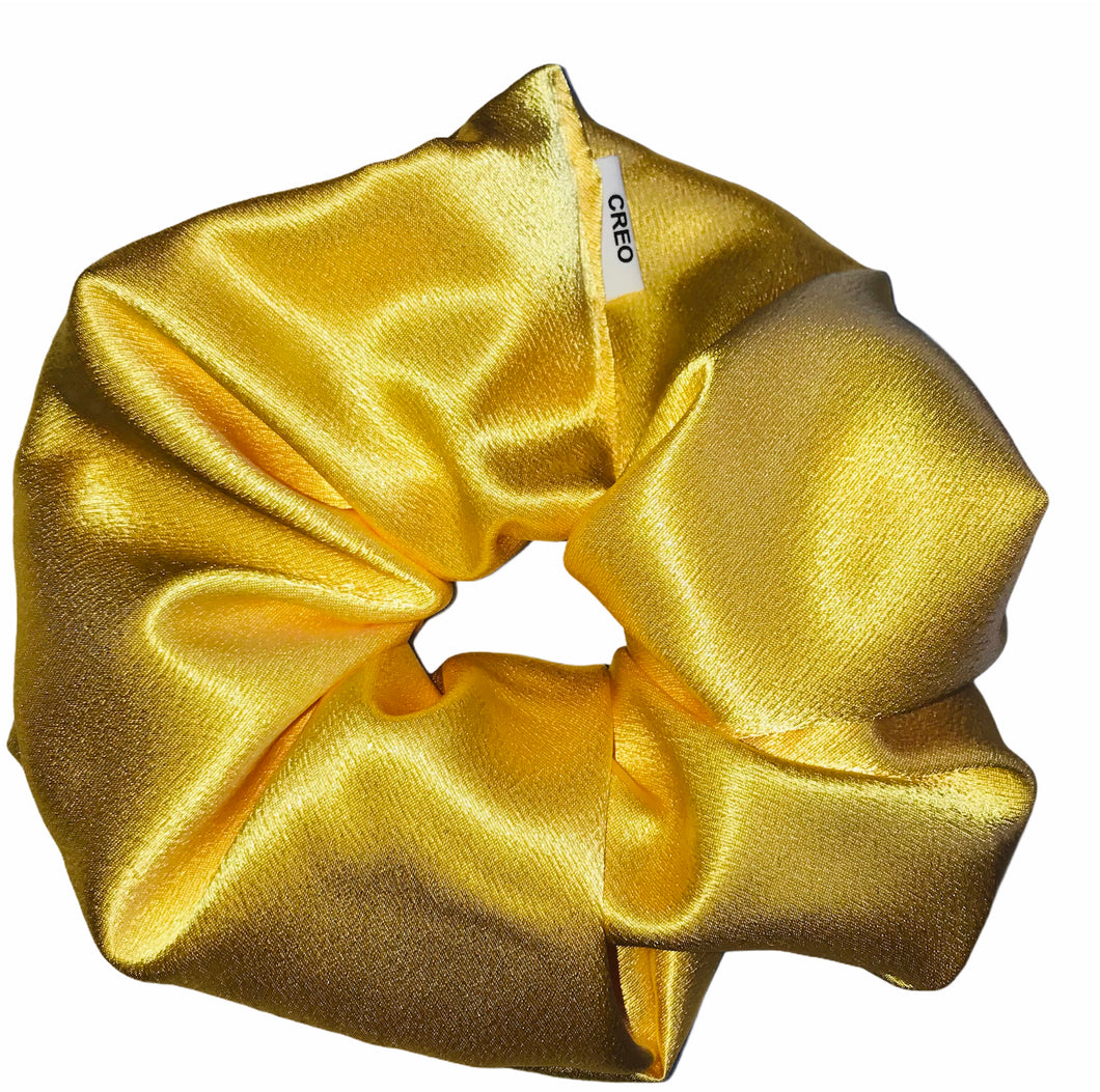 XXL Yellow Satin Scrunchie
