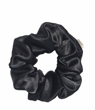 Load image into Gallery viewer, Satin Black Mask & Medium Scrunchie