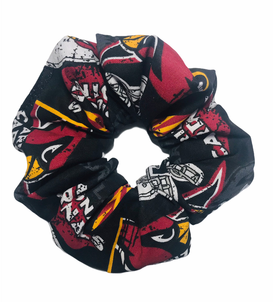 Repurposed Cardinal Football Scrunchie
