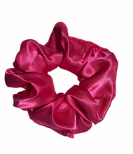 Load image into Gallery viewer, Medium Hot Pink Satin Scrunchie