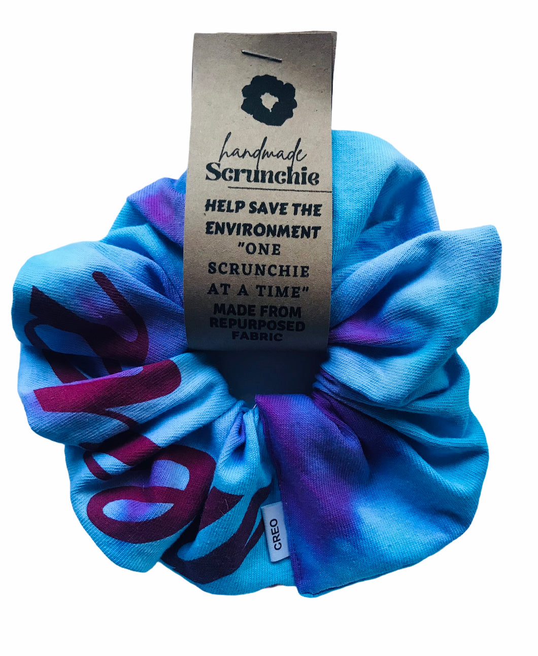 Repurposed XXL Tie Dye Scrunchie