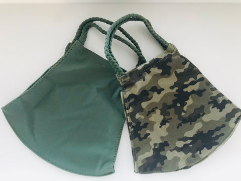 POM MASK 2 PACK CAMO/GREEN