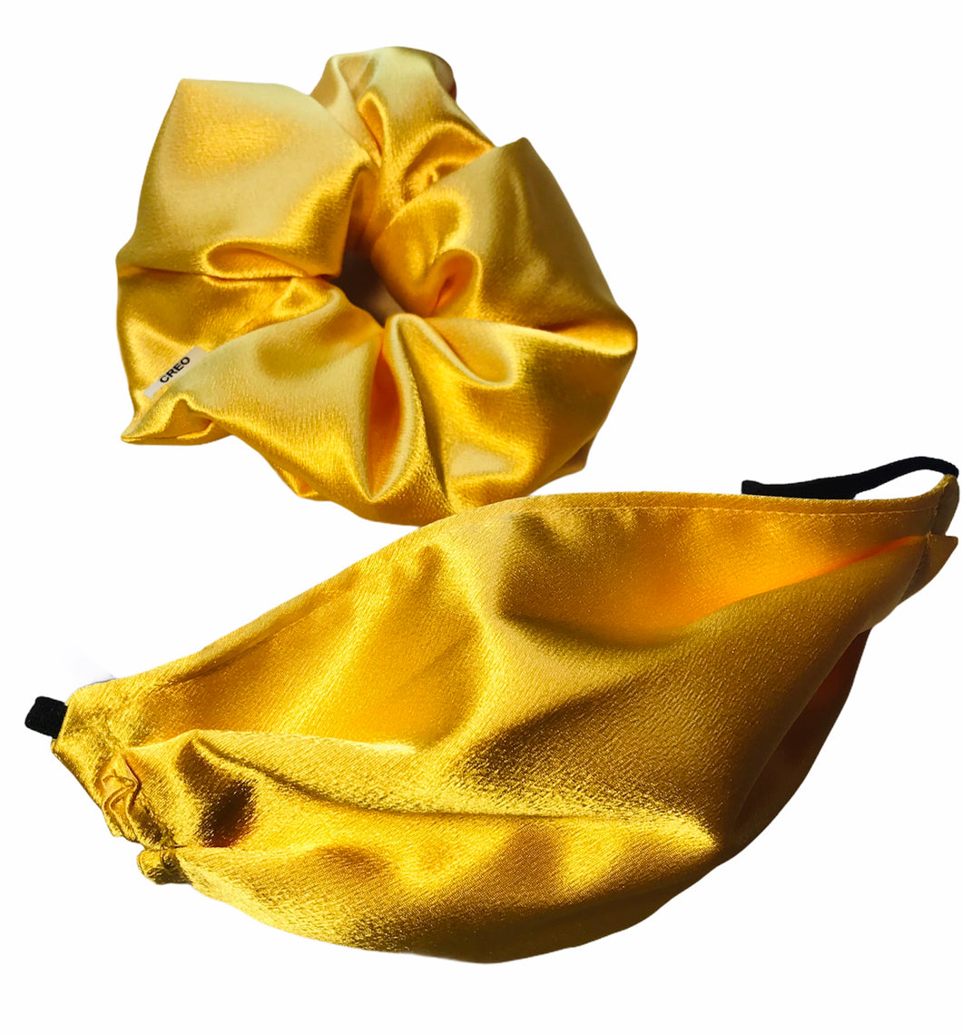 XXL Scrunchie & Satin Mask
