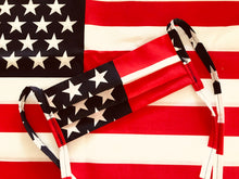 "Load image into Gallery viewer, The ""Original"" AMERICAN FLAG TIE MASK"