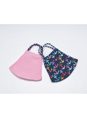 POM MASK 2 PACK ANCHOR/PINK