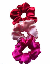 Load image into Gallery viewer, Medium Baby Pink Satin Scrunchie