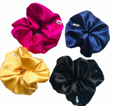 Load image into Gallery viewer, XXL Yellow Satin Scrunchie