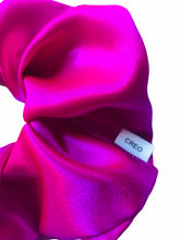 Load image into Gallery viewer, XXL Hot Pink Satin Scrunchie