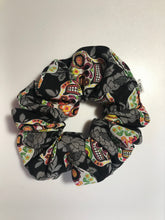 Load image into Gallery viewer, Stash in Style Skull Scrunchie