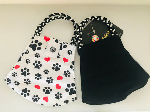 POM MASK 2 PACK DOG PRINT/BLACK