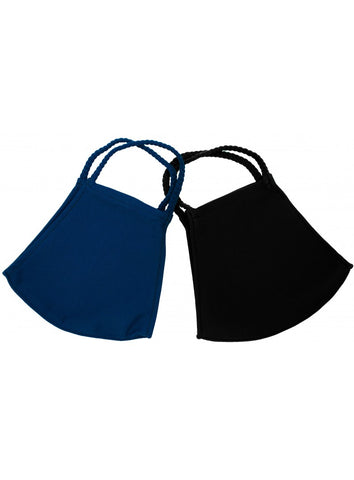 POM MASK XL 2 PACK BLACK/NAVY