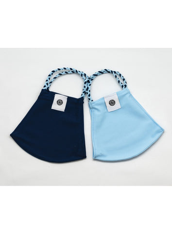 POM MASK 2 PACK LIGHT BLUE/NAVY