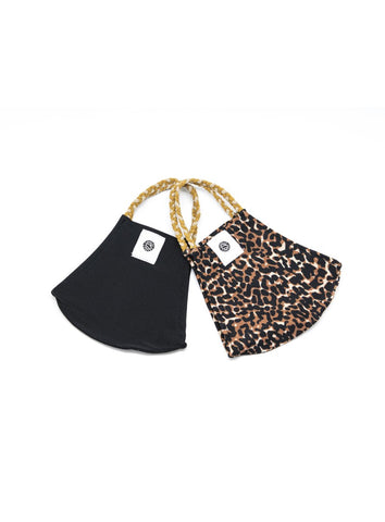 POM MASK 2 PACK LEOPARD/BLACK