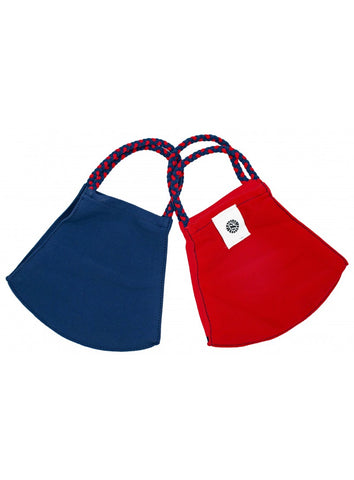 POM MASKS 2 PACK NAVY/RED
