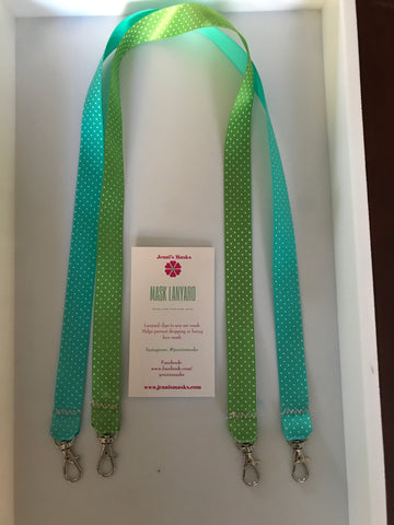 Lanyard Solid Color with white dots