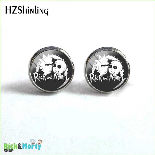 2018 NEW Rick And Morty Round Earring Popular TV Earrings Hot Stud Jewelry Glass Cabochon Photo Ear Studs Stainless Steel - 2 - 7
