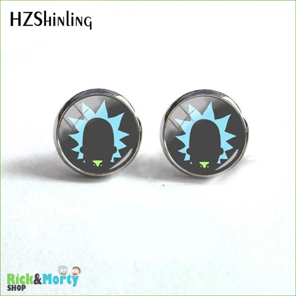 2018 NEW Rick And Morty Round Earring Popular TV Earrings Hot Stud Jewelry Glass Cabochon Photo Ear Studs Stainless Steel - 3 - 8