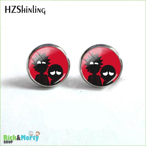 2018 NEW Rick And Morty Round Earring Popular TV Earrings Hot Stud Jewelry Glass Cabochon Photo Ear Studs Stainless Steel - 4 - 9