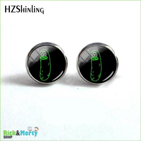 2018 NEW Rick And Morty Round Earring Popular TV Earrings Hot Stud Jewelry Glass Cabochon Photo Ear Studs Stainless Steel - 6 - 5