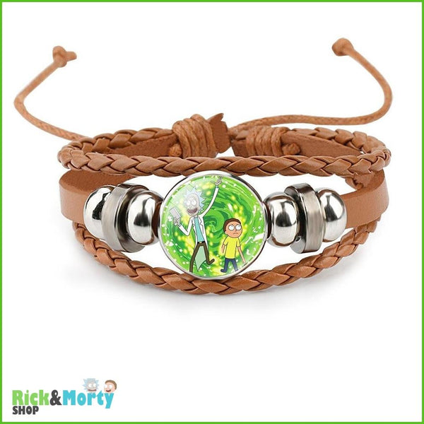 Anime Rick and Morty Bracelet Cosplay Accessories Jewelry Leather Cartoon Bracelet Armband Gift Fairy Tail Handwear Fr Women Man - 1 - 5