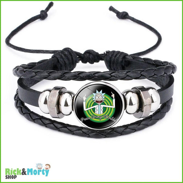 Anime Rick and Morty Bracelet Cosplay Accessories Jewelry Leather Cartoon Bracelet Armband Gift Fairy Tail Handwear Fr Women Man - 12 - 2