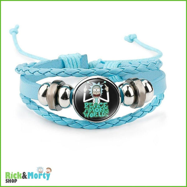 Anime Rick and Morty Bracelet Cosplay Accessories Jewelry Leather Cartoon Bracelet Armband Gift Fairy Tail Handwear Fr Women Man - 2 - 8