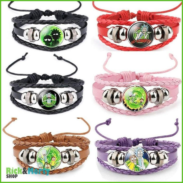 Anime Rick and Morty Bracelet Cosplay Accessories Jewelry Leather Cartoon Bracelet Armband Gift Fairy Tail Handwear Fr Women Man - 1