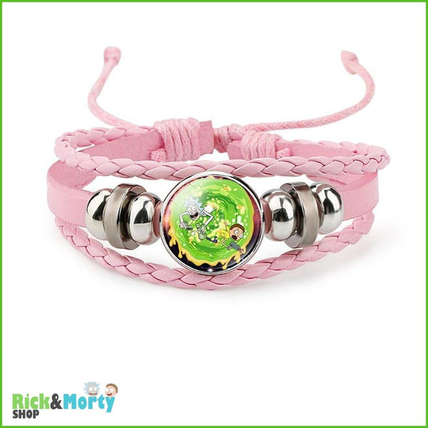 Anime Rick and Morty Bracelet Cosplay Accessories Jewelry Leather Cartoon Bracelet Armband Gift Fairy Tail Handwear Fr Women Man - 8 - 9