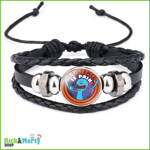 Anime Rick and Morty Bracelet Cosplay Accessories Jewelry Leather Cartoon Bracelet Armband Gift Fairy Tail Handwear Fr Women Man - 9 - 3